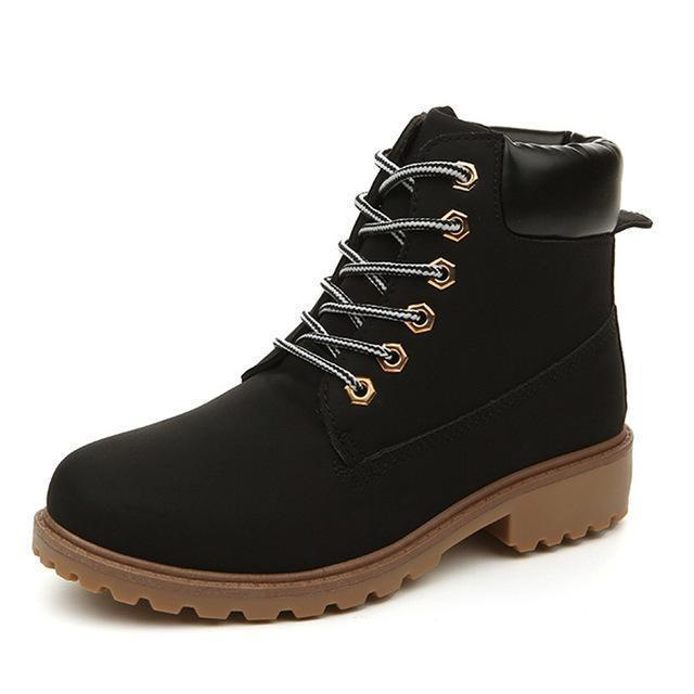 Men Winter Shoes / Warm Plush Ankle Boots for Cold Winter-Black autumn-6.5-JadeMoghul Inc.
