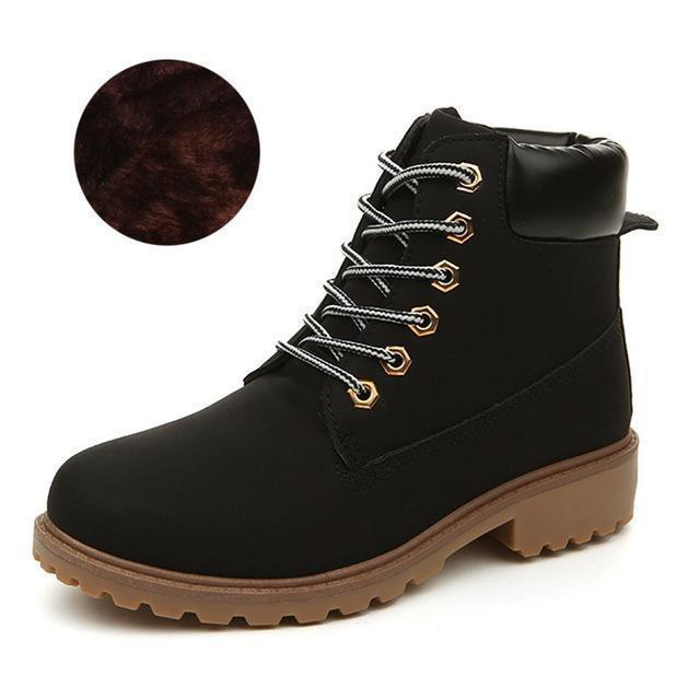 Men Winter Shoes / Warm Plush Ankle Boots for Cold Winter-Black winter-6.5-JadeMoghul Inc.