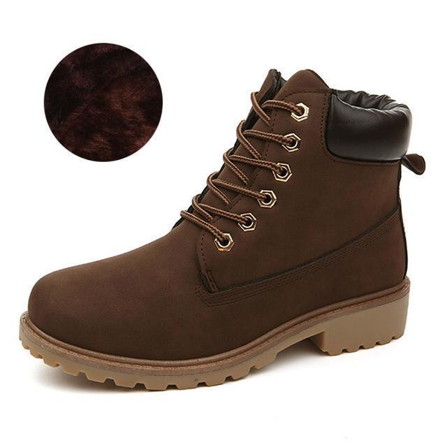 Men Winter Shoes / Warm Plush Ankle Boots for Cold Winter-Brown winter-6.5-JadeMoghul Inc.