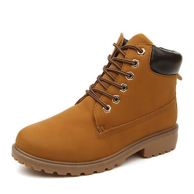 Men Winter Shoes / Warm Plush Ankle Boots for Cold Winter-Yellow autumn-6.5-JadeMoghul Inc.
