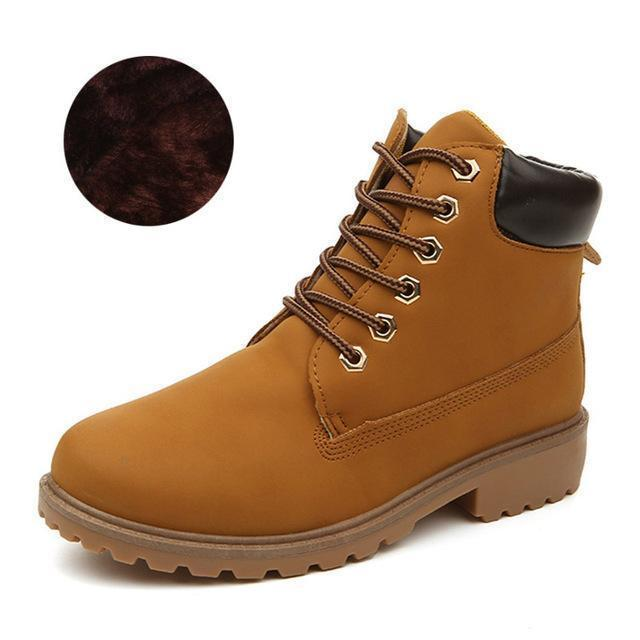 Men Winter Shoes / Warm Plush Ankle Boots for Cold Winter-Yellow winter-6.5-JadeMoghul Inc.