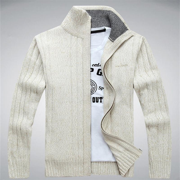 Men Winter Wool Blend Cardigan / Fashionable Sweater For Men-203 Army Green-M-JadeMoghul Inc.
