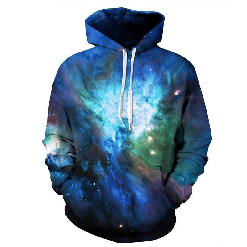 Men Women Unisex 3D Printed Space Galaxy Pullover Hoodie-MS16-S-JadeMoghul Inc.