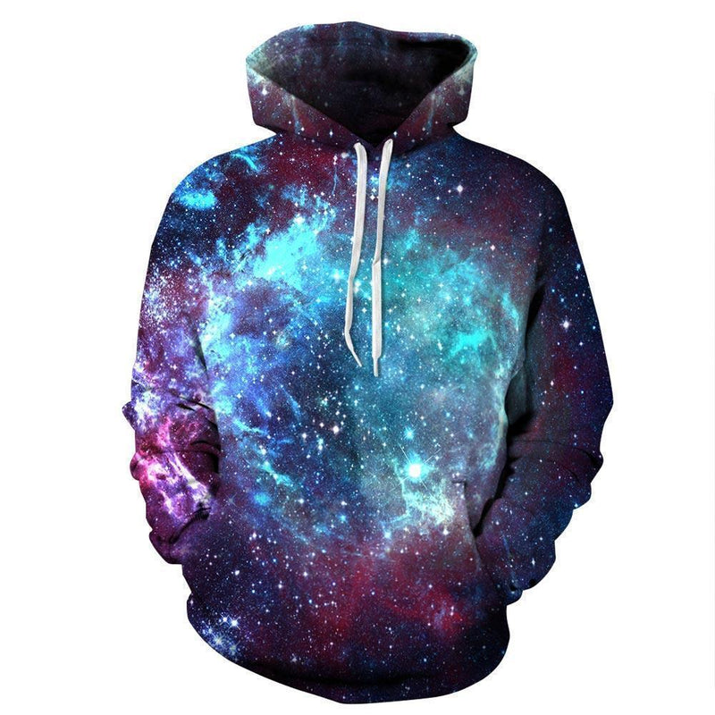 Men Women Unisex 3D Printed Space Galaxy Pullover Hoodie-MS8-S-JadeMoghul Inc.
