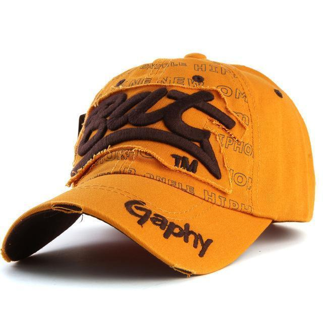 Men / women Unisex Base ball Hat With embroidered And Print Detailing-deep yellow-adjustable-JadeMoghul Inc.