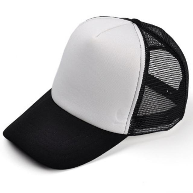Men / women Unisex Base ball Hat With Print Detailing-black and white-JadeMoghul Inc.