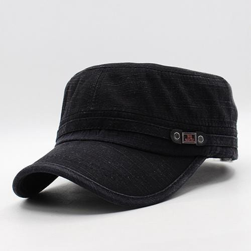Men / women Unisex Military Style Cotton Hat-black-JadeMoghul Inc.
