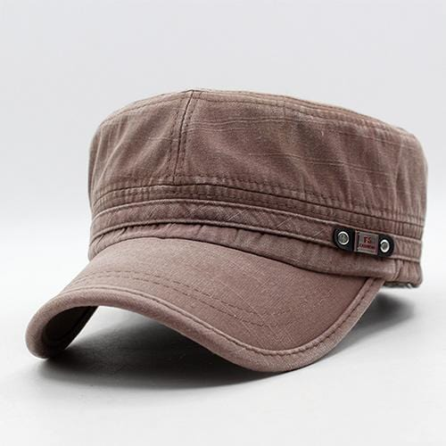 Men / women Unisex Military Style Cotton Hat-brown-JadeMoghul Inc.