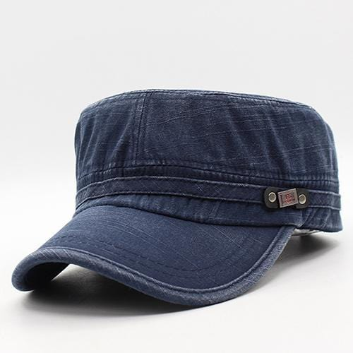 Men / women Unisex Military Style Cotton Hat-navy-JadeMoghul Inc.
