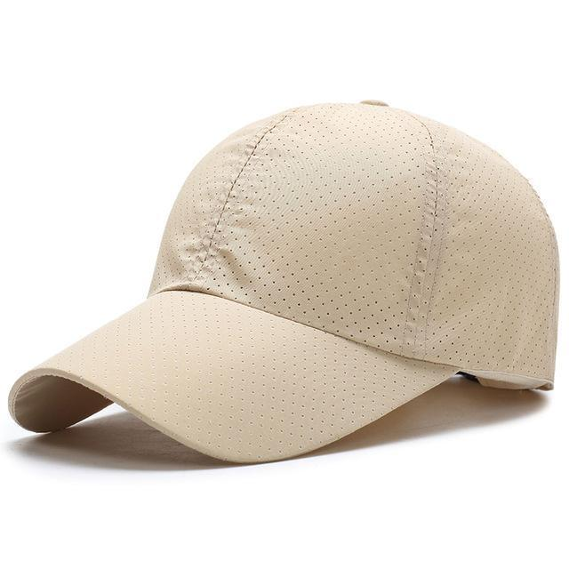 Men / Women Unisex Water proof / Quick Dry Mesh Base Ball Hat-Beige-JadeMoghul Inc.