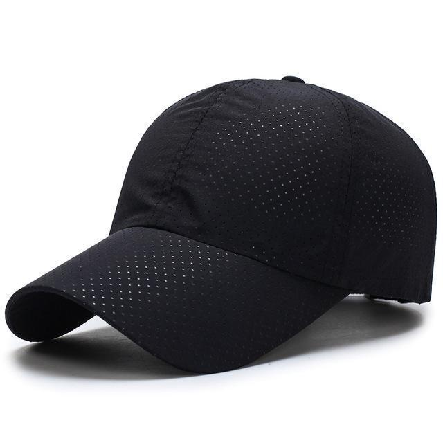 Men / Women Unisex Water proof / Quick Dry Mesh Base Ball Hat-Black-JadeMoghul Inc.