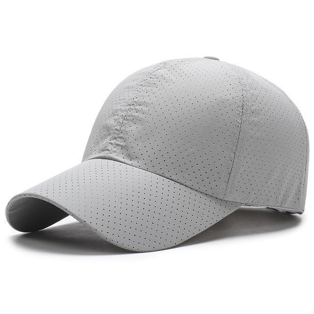Men / Women Unisex Water proof / Quick Dry Mesh Base Ball Hat-Light Gray-JadeMoghul Inc.