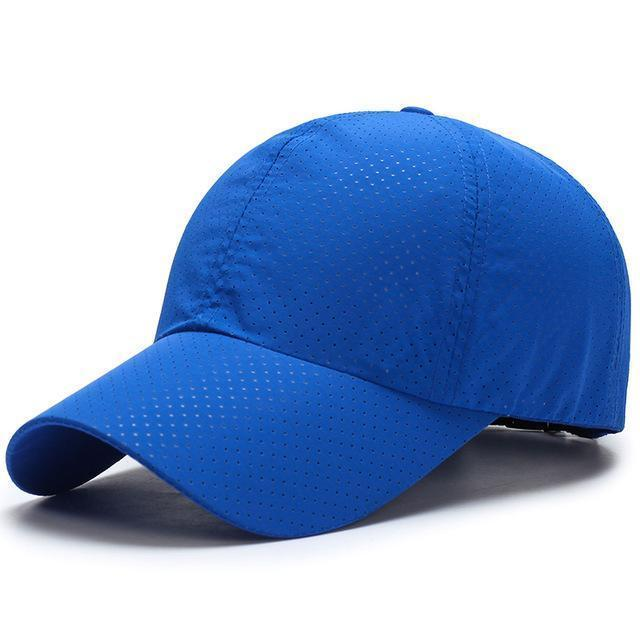 Men / Women Unisex Water proof / Quick Dry Mesh Base Ball Hat-Navy Blue-JadeMoghul Inc.
