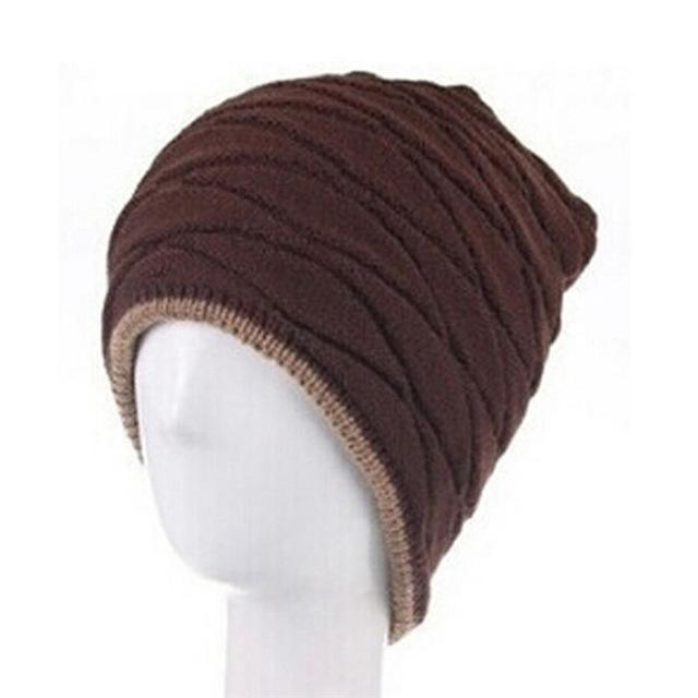 Men / Women Unisex Wool knit Slouch Beanie With Soft Fur Lining-coffee-JadeMoghul Inc.