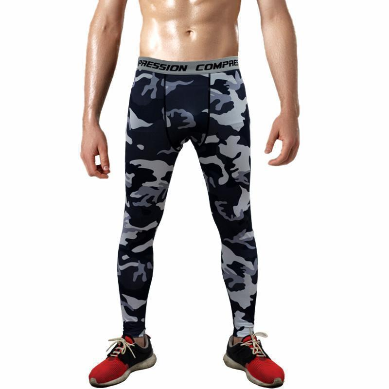 Mens Compression Pants - Crossfit Tights Men Bodybuilding Pants Trousers Camouflage Joggers-KC01-S-JadeMoghul Inc.