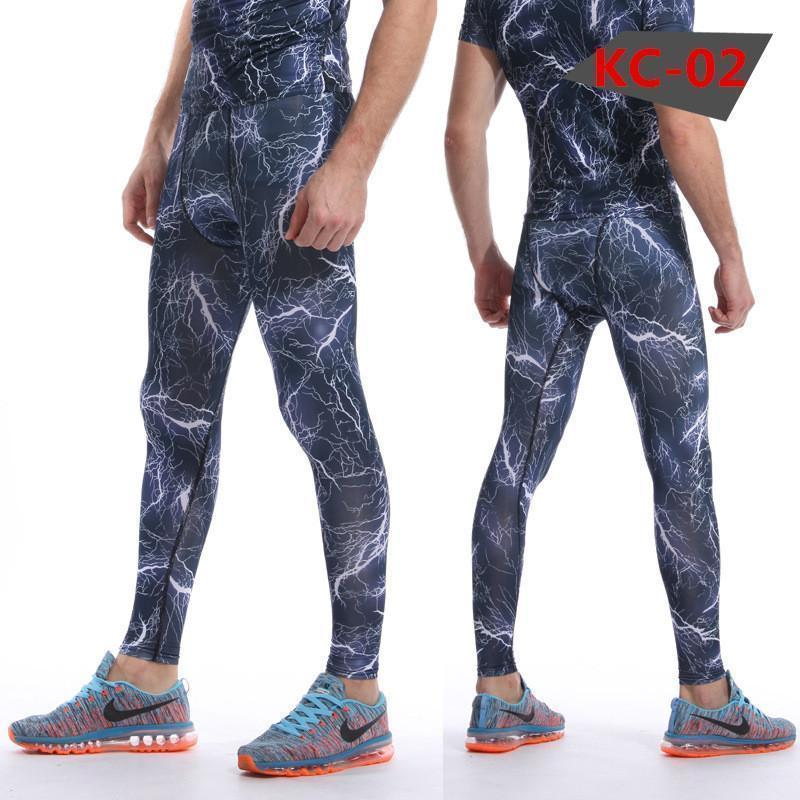 Mens Compression Pants - Crossfit Tights Men Bodybuilding Pants Trousers Camouflage Joggers-KC02-S-JadeMoghul Inc.