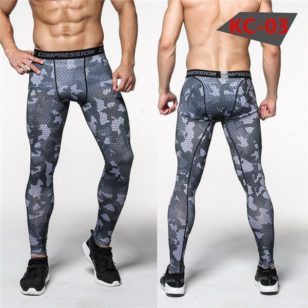 Mens Compression Pants - Crossfit Tights Men Bodybuilding Pants Trousers Camouflage Joggers-KC03-S-JadeMoghul Inc.
