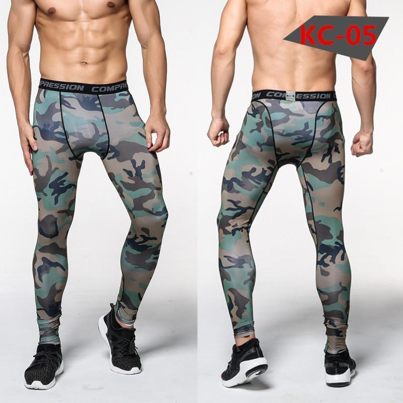 Mens Compression Pants - Crossfit Tights Men Bodybuilding Pants Trousers Camouflage Joggers-KC05-S-JadeMoghul Inc.