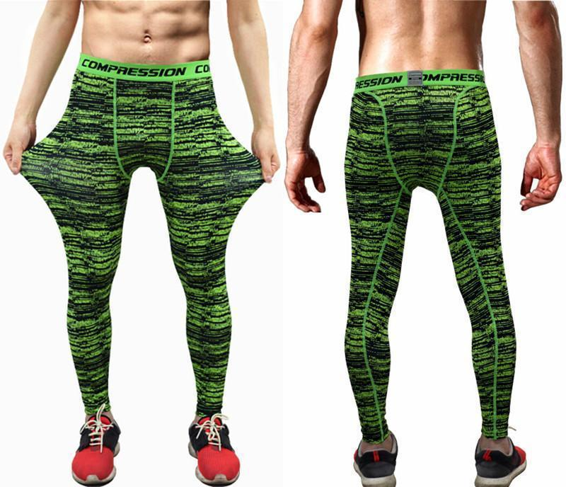 Mens Compression Pants - Crossfit Tights Men Bodybuilding Pants Trousers Camouflage Joggers-KC07-S-JadeMoghul Inc.
