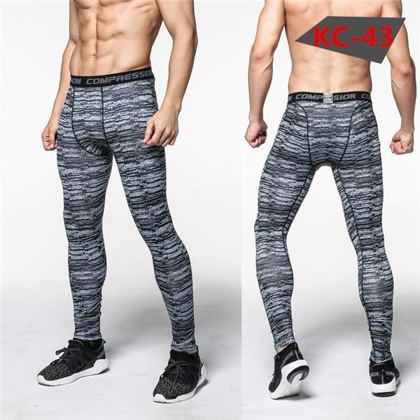 Mens Compression Pants - Crossfit Tights Men Bodybuilding Pants Trousers Camouflage Joggers-KC43-S-JadeMoghul Inc.