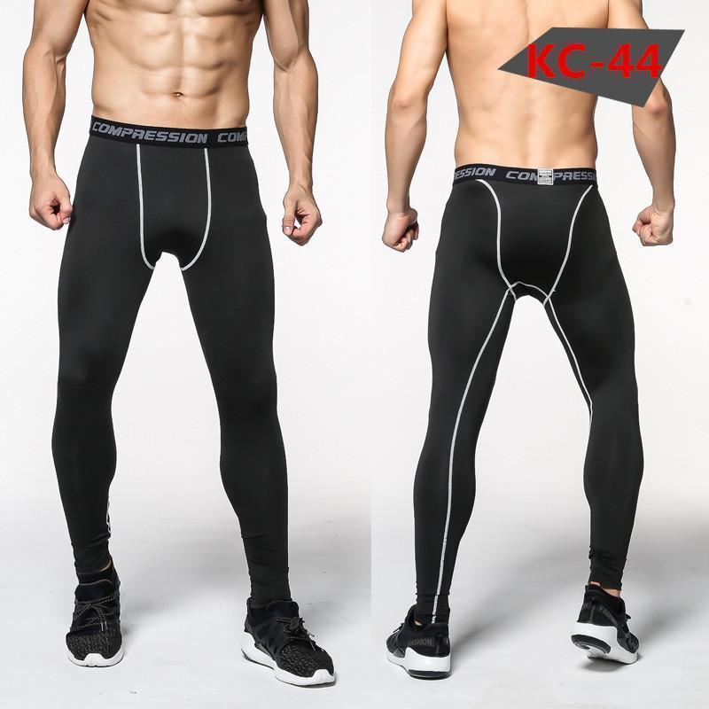 Mens Compression Pants - Crossfit Tights Men Bodybuilding Pants Trousers Camouflage Joggers-KC44-S-JadeMoghul Inc.