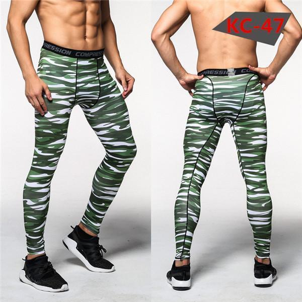 Mens Compression Pants - Crossfit Tights Men Bodybuilding Pants Trousers Camouflage Joggers-KC47-S-JadeMoghul Inc.