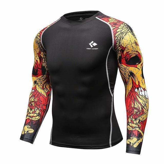 Mens Compression Shirts / Skin Tight Long Sleeves Jersey-Model10-XL-JadeMoghul Inc.