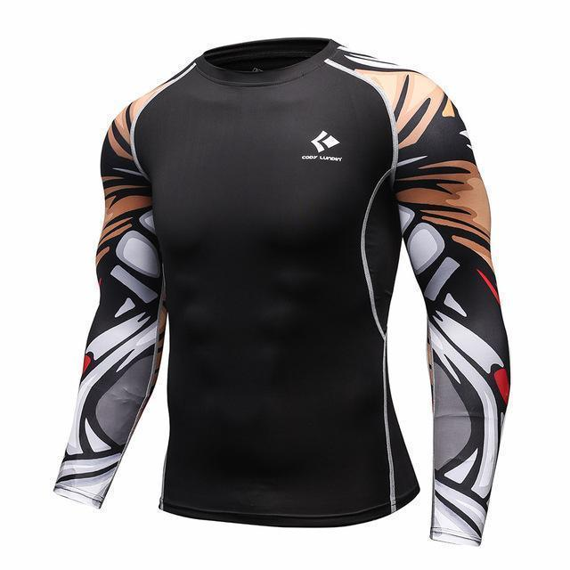 Mens Compression Shirts / Skin Tight Long Sleeves Jersey-Model11-XL-JadeMoghul Inc.