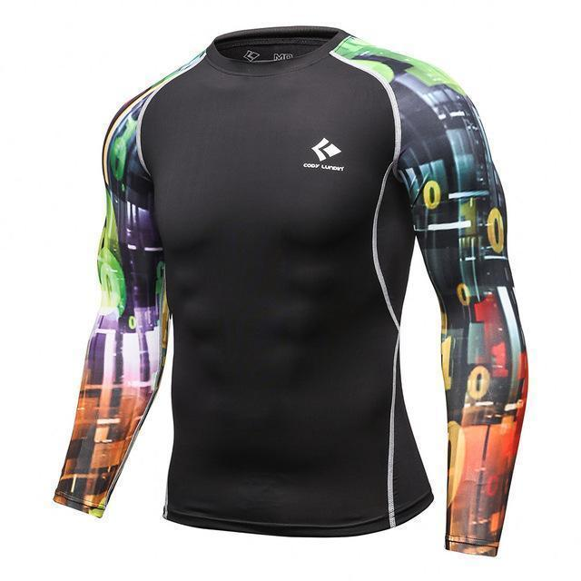 Mens Compression Shirts / Skin Tight Long Sleeves Jersey-Model12-XL-JadeMoghul Inc.