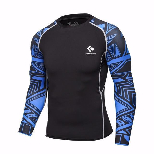 Mens Compression Shirts / Skin Tight Long Sleeves Jersey-Model13-XL-JadeMoghul Inc.