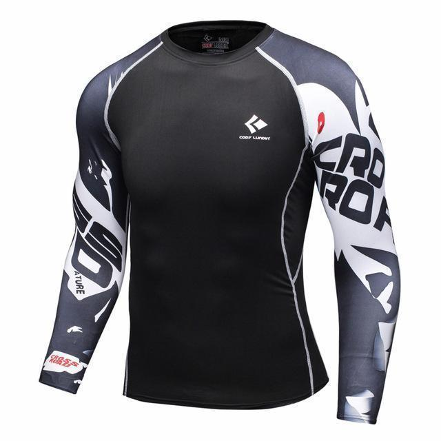 Mens Compression Shirts / Skin Tight Long Sleeves Jersey-Model3-XL-JadeMoghul Inc.