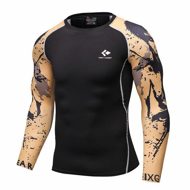 Mens Compression Shirts / Skin Tight Long Sleeves Jersey-Model5-XL-JadeMoghul Inc.