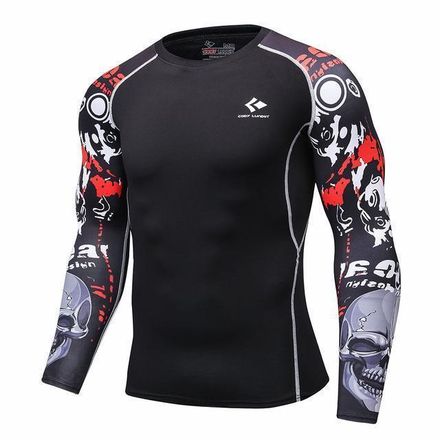 Mens Compression Shirts / Skin Tight Long Sleeves Jersey-Model6-XL-JadeMoghul Inc.