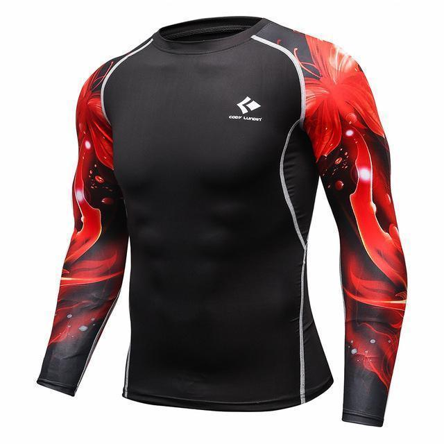 Mens Compression Shirts / Skin Tight Long Sleeves Jersey-Model7-XL-JadeMoghul Inc.