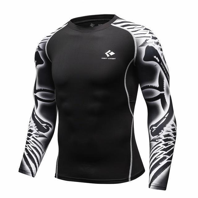 Mens Compression Shirts / Skin Tight Long Sleeves Jersey-Model8-XL-JadeMoghul Inc.