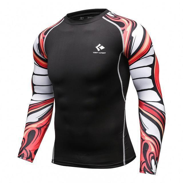Mens Compression Shirts / Skin Tight Long Sleeves Jersey-Model9-XL-JadeMoghul Inc.