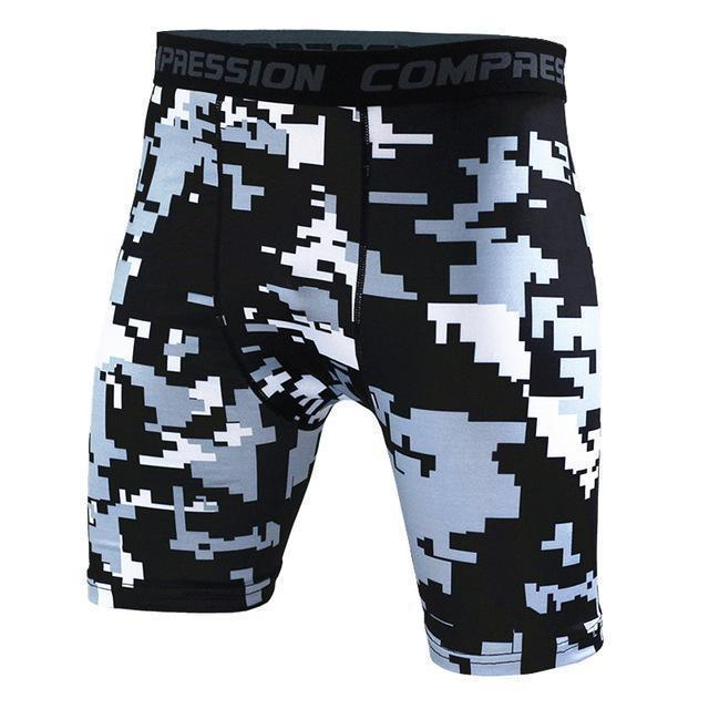 Mens Compression Shorts 2016 Summer Camouflage Bermuda Shorts Fitness Men Cossfit Bodybuilding Tights Camo Shorts-KD29-S-JadeMoghul Inc.