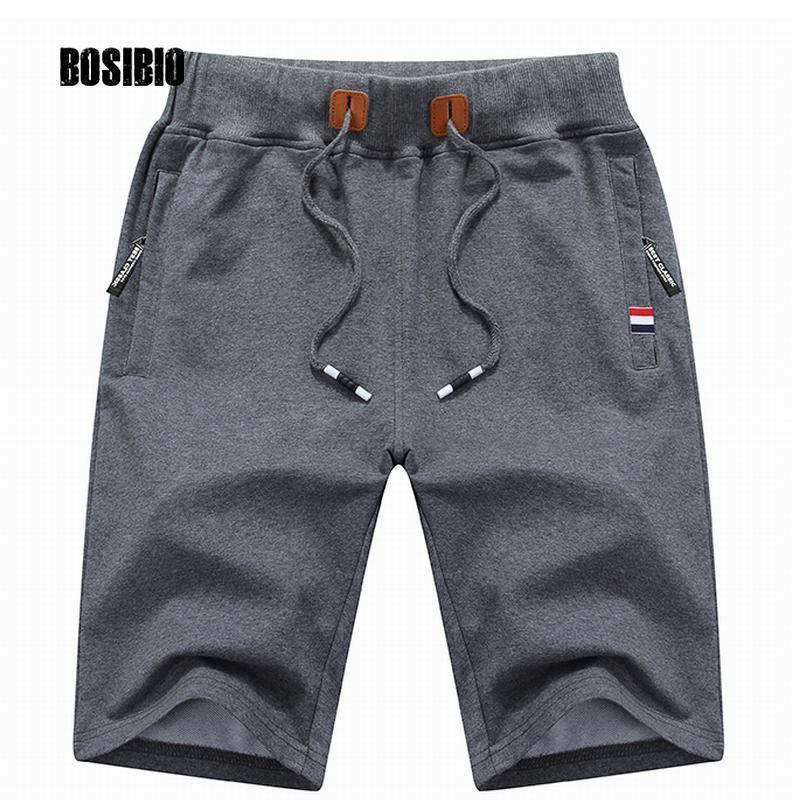 Mens Cotton Shorts 2017 Summer Hot Breathable Male Bermuda Solid Elastic Waist Casual Short Pants Fashion Knee Length M-4XL K721-Gray-M-JadeMoghul Inc.