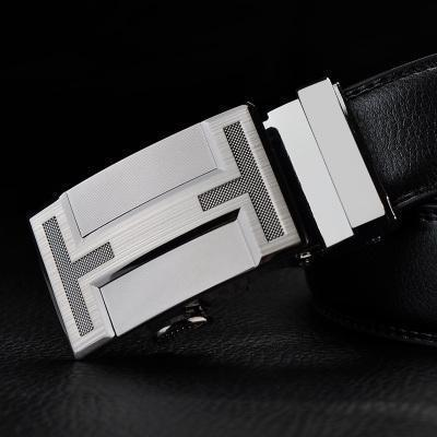 Mens Designer Belt / Real Leather Automatic Buckle Male Belt-Belt 10-110cm-JadeMoghul Inc.