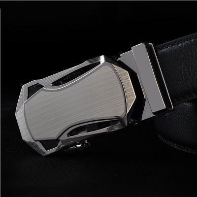 Mens Designer Belt / Real Leather Automatic Buckle Male Belt-Belt 13-110cm-JadeMoghul Inc.