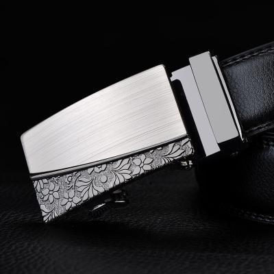 Mens Designer Belt / Real Leather Automatic Buckle Male Belt-Belt 19-110cm-JadeMoghul Inc.