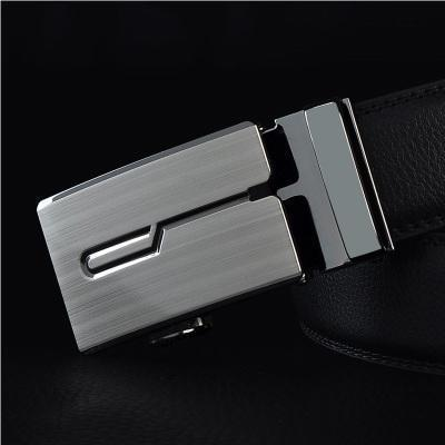 Mens Designer Belt / Real Leather Automatic Buckle Male Belt-Belt 6-110cm-JadeMoghul Inc.
