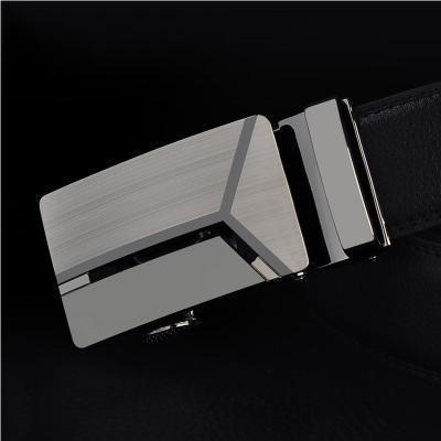 Mens Designer Belt / Real Leather Automatic Buckle Male Belt-Belt 7-110cm-JadeMoghul Inc.