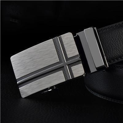 Mens Designer Belt / Real Leather Automatic Buckle Male Belt-Belt 8-110cm-JadeMoghul Inc.