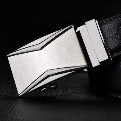 Mens Designer Belt / Real Leather Automatic Buckle Male Belt-Belt 9-110cm-JadeMoghul Inc.