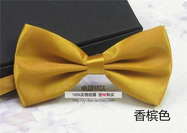 Men's Fashion Silk BowTie-champagne-JadeMoghul Inc.