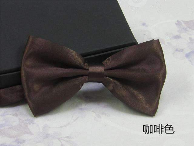 Men's Fashion Silk BowTie-coffee-JadeMoghul Inc.