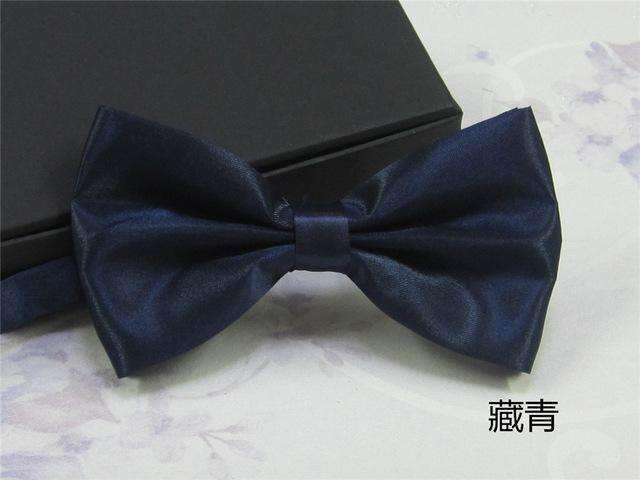 Men's Fashion Silk BowTie-dark blue-JadeMoghul Inc.