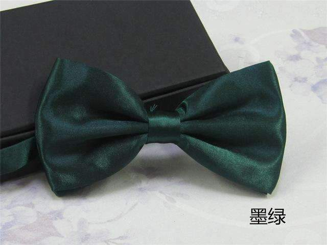Men's Fashion Silk BowTie-dark green-JadeMoghul Inc.