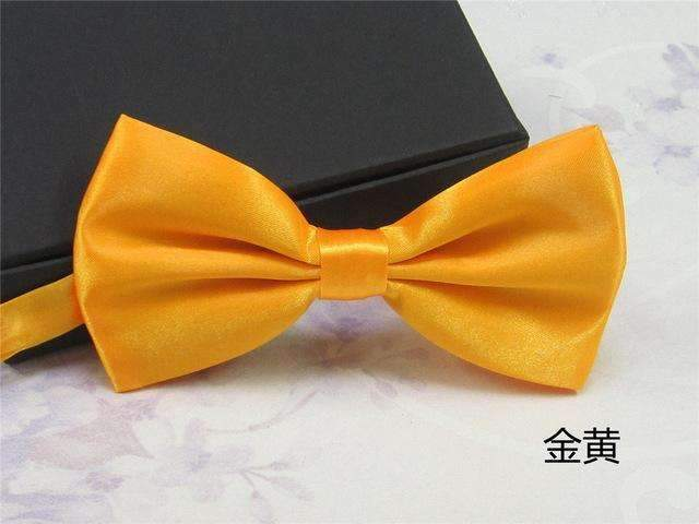 Men's Fashion Silk BowTie-golden-JadeMoghul Inc.